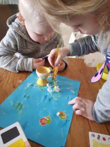 Eierdop schilderen