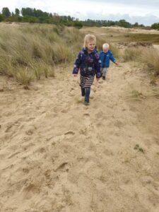 Wandelen in de duinen