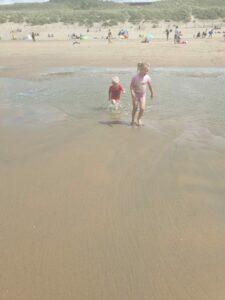 Zwemmen op het strand