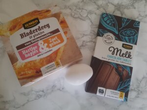 Benodigdheden chocolade broodjes