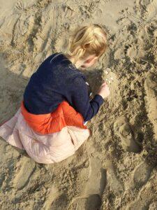 Zandkasteel maken