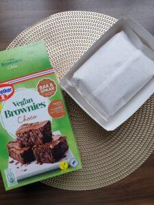Inhoud van het pak vegan brownies van Dr.Oetker