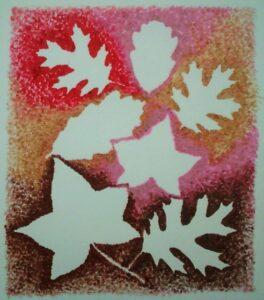 Herfst knutsel contouren van bladeren